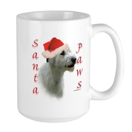 Santa Paws Irish Wolfhound Large Mug