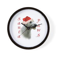Santa Paws Irish Wolfhound Wall Clock