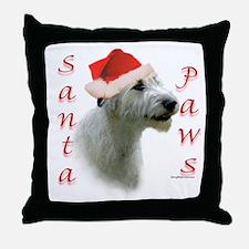 Santa Paws Irish Wolfhound Throw Pillow