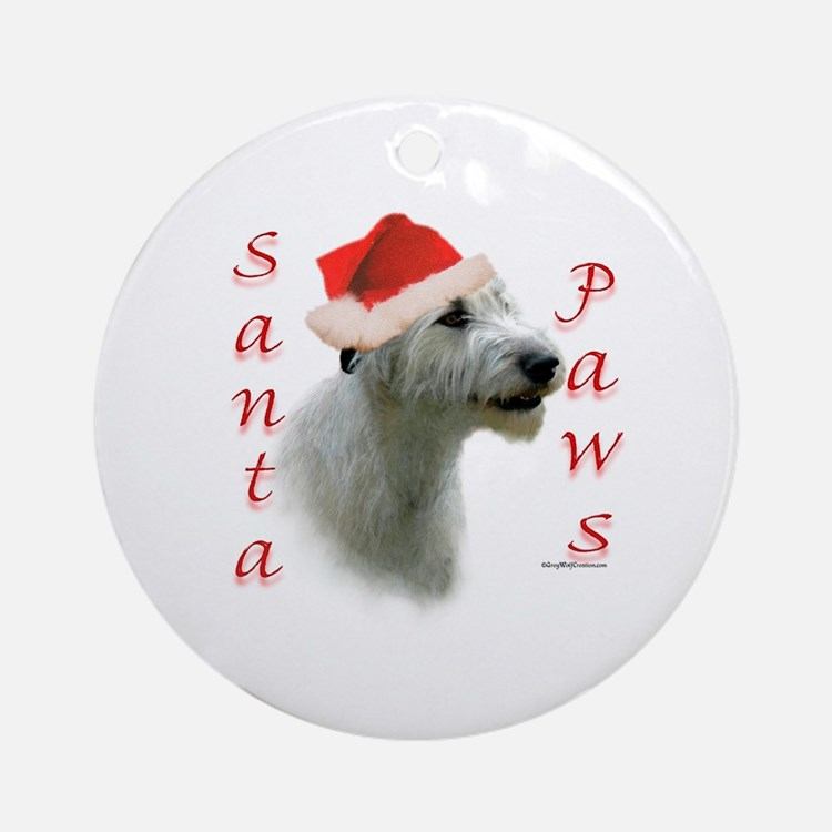 Santa Paws Irish Wolfhound Ornament (Round)