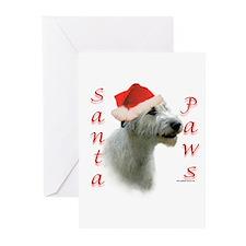 Santa Paws Irish Wolfhound Greeting Cards (Package