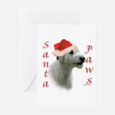 Santa Paws Irish Wolfhound Greeting Cards (Package
