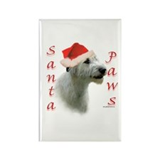 Santa Paws Irish Wolfhound Rectangle Magnet