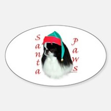 Santa Paws Japanese Chin Oval Decal