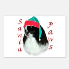 Santa Paws Japanese Chin Postcards (Package of 8)