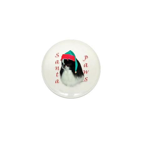 Santa Paws Japanese Chin Mini Button