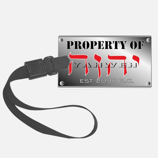 property of YHWH Large Luggage Tag