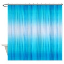 Blue Streaked Shower Curtain
