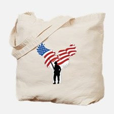 Soldiers Angel Flag Tote Bag