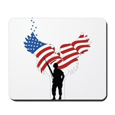 Soldiers Angel Flag Mousepad
