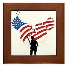 Soldiers Angel Flag Framed Tile