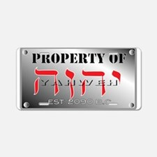 property of YHWH Aluminum License Plate
