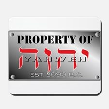 property of YHWH Mousepad