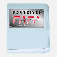 property of YHWH baby blanket