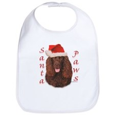 Santa Paws Irish Water Spaniel Bib