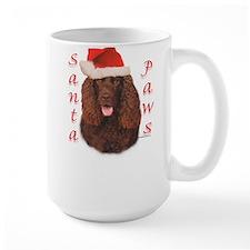 Santa Paws Irish Water Spaniel Mug