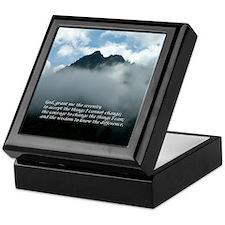 Chimney Tops - Serenity Prayer Keepsake Box