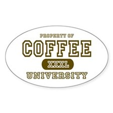 Coffee University Oval Decal