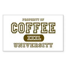 Coffee University Rectangle Decal