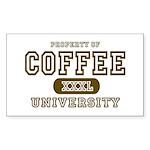 Coffee University Rectangle Sticker