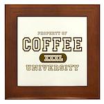 Coffee University Framed Tile