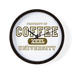 Coffee University Wall Clock