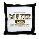 Coffee University Throw Pillow