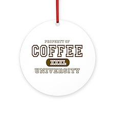 Coffee University Ornament (Round)
