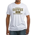Coffee University Fitted T-Shirt