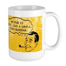 pug_buddha_coffee Mugs