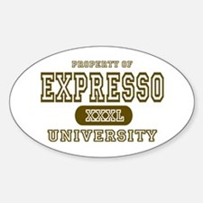 Expresso University Coffee Oval Decal