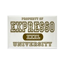 Expresso University Coffee Rectangle Magnet