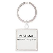 Muslimah #Modest Elegance Square Keychain