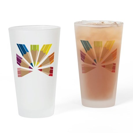 Color Pencils Drinking Glass