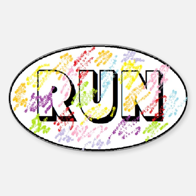 Color Run Sticker (Oval)