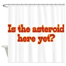 Is the asteroid here yet? Shower Curtain