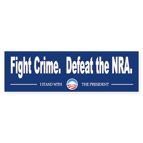 Fight Crime Sticker (Bumper)