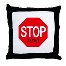 Stop Jaren Throw Pillow