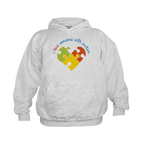 Someone With Autism Kids Hoodie