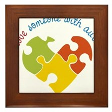 Someone With Autism Framed Tile