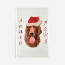 Santa Paws Irish Setter Rectangle Magnet