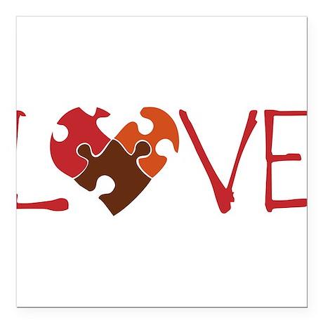 "Love Square Car Magnet 3"" x 3"""