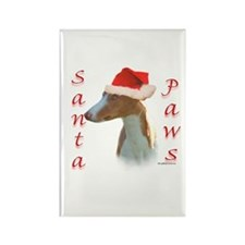 Santa Paws Ibizan Hound Rectangle Magnet