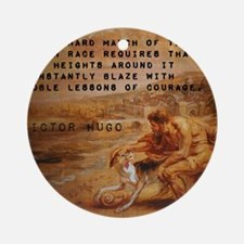 The Onward March - Victor Hugo Round Ornament