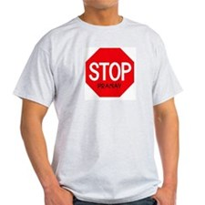 Stop Pranav Ash Grey T-Shirt