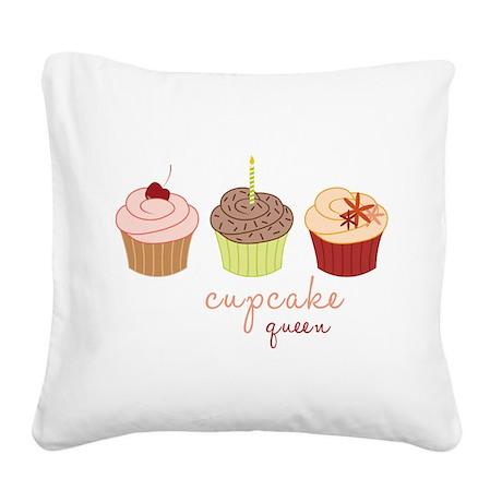 Cupcake Queen Square Canvas Pillow