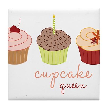 Cupcake Queen Tile Coaster