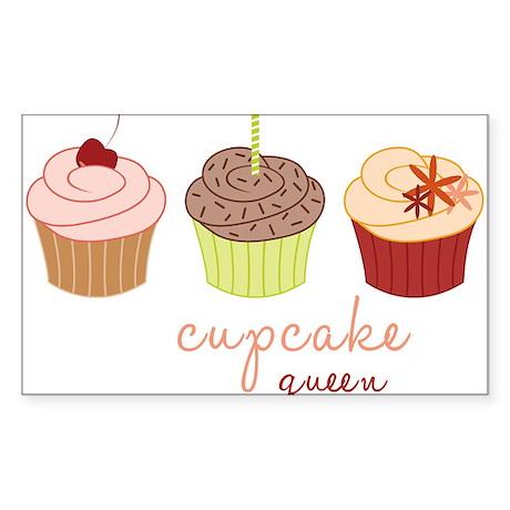 Cupcake Queen Sticker (Rectangle)