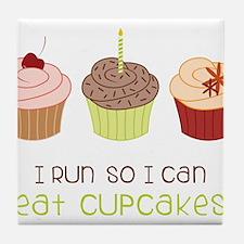 Eat Cupcakes Tile Coaster