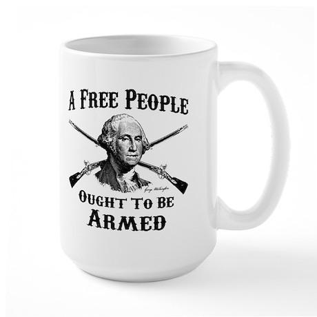 A Free People Large Mug